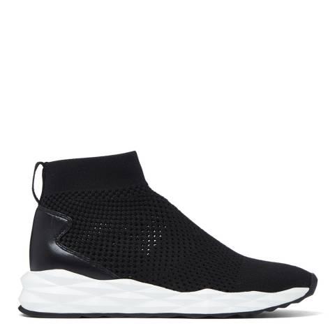 ASH Black Knit Nappa Calf Sneaker