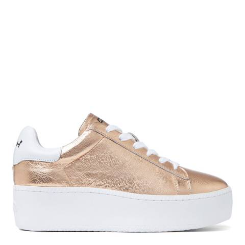 ASH Rose Gold Metallic Cult Platform Sneaker