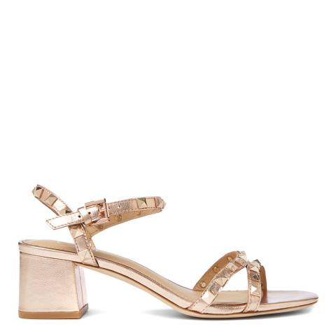 ASH Rose Gold Metallic Iggy Heeled Sandal