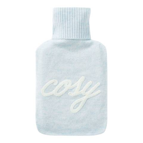 Pure Collection Blue Mist Cosy Toccato Hot water Bottle Cover