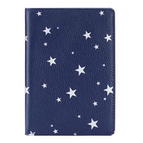 Pure Collection Navy Star Leather Passport Cover