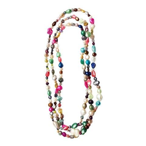 White label by Liv Oliver Multi Color Baroque Endless Necklace