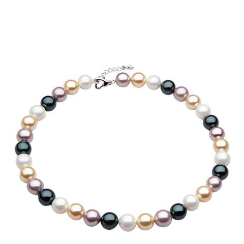 White label by Liv Oliver Multi Pearl Necklace in Silver