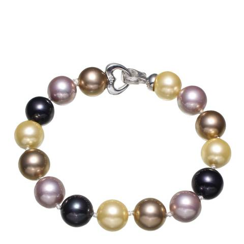 White label by Liv Oliver Multi Color Pearl Bracelet in Silver