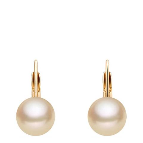 White label by Liv Oliver 18k Rose Gold Champagne Pearl Drop Earrings