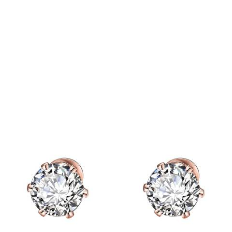 Black Label by Liv Oliver 18k Rose Gold Solitaire Stud Earrings