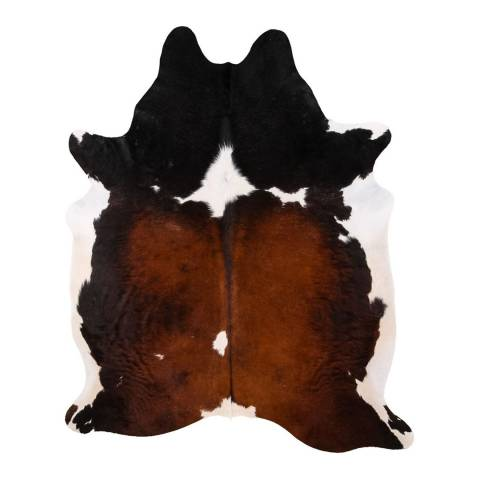 Arctic Fur Tricolour South American Cow Hide, 203x184 cm