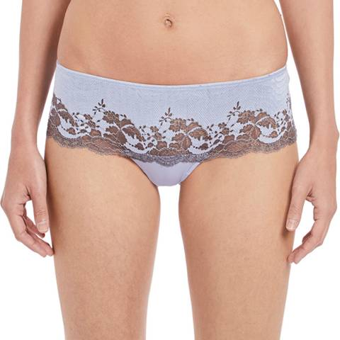 Wacoal Eventide/Gray Lace Affair Tanga