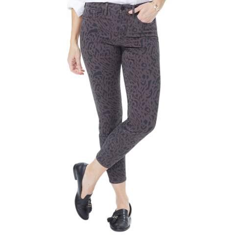 NYDJ Chocolate Leopard Ami Ankle Skinny Jeans