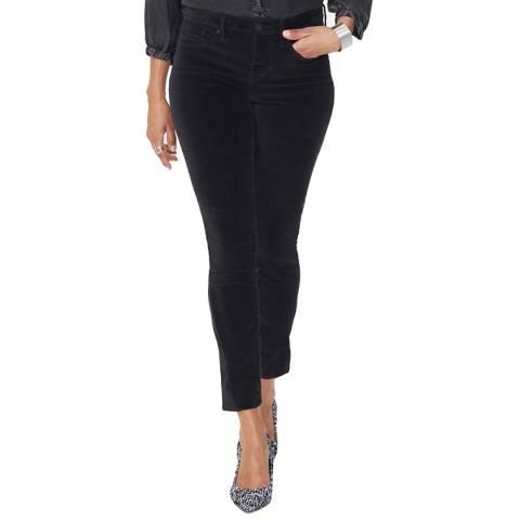 NYDJ Black Sheri Velvet Slim Jeans