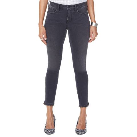 NYDJ Charcoal Ami Ankle Embellished Super Skinny Jeans