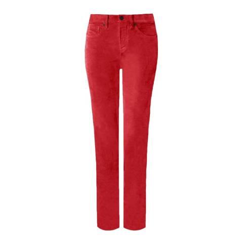 NYDJ Red Sheri Velvet Slim Jeans