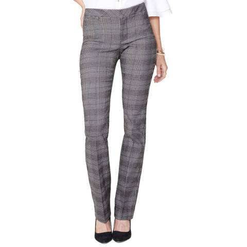 NYDJ Grey Plaid Straight Trousers