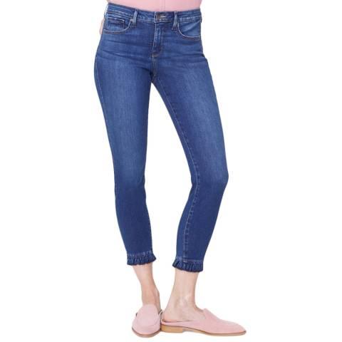 NYDJ Mid Blue Ami Ankle Ruffle Hem Skinny Jeans