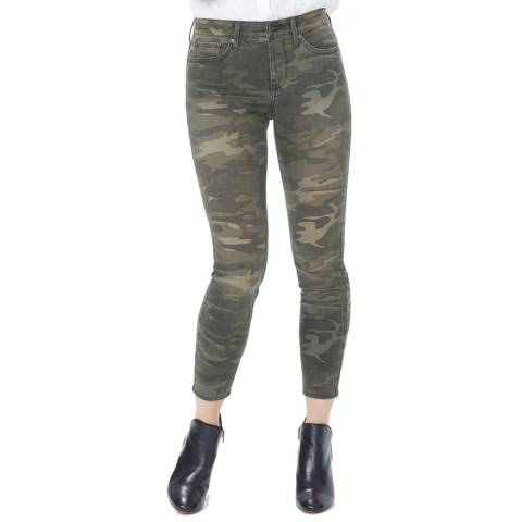 NYDJ Camo Green Ami Skinny Ankle Jeans