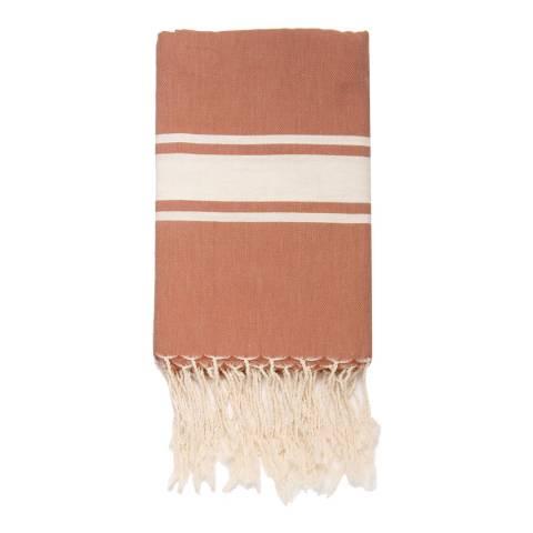 Febronie St Tropez Hammam Towel, Terracotta