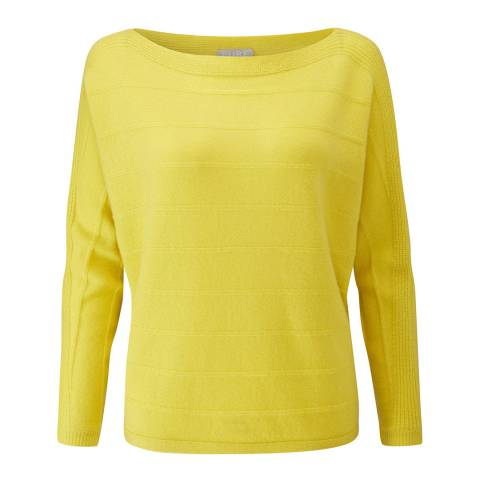 Pure Collection Chartreuse Dolman Textured Cashmere Jumper