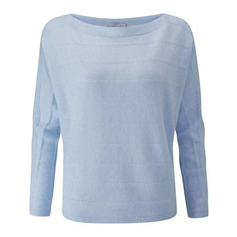 Pure Collection Heather Sky Cashmere Dolman Sleeve Textured Sweater