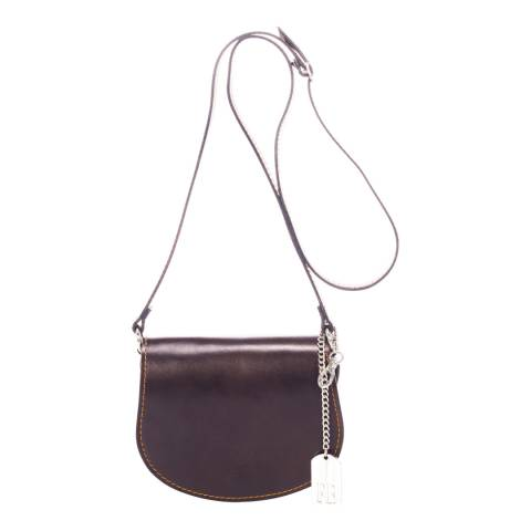 Federica Bassi Dark Brown Shoulder Bag