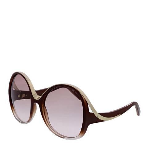 Chloé Women's Wine/Gold Chloe Sunglasses 61mm