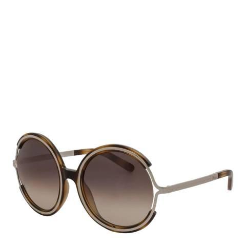 Chloe Women's Light Brown Chloe Sunglasses 58mm