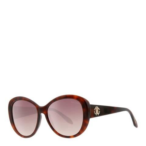 Roberto Cavalli Women's Dark Havana Roberto Cavalli Sunglasses 60mm