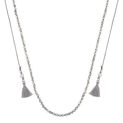 Tassioni Silver Metal Tassel Necklace