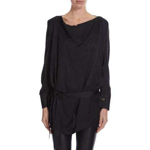 Vivienne Westwood Black Slim Box Silk Top