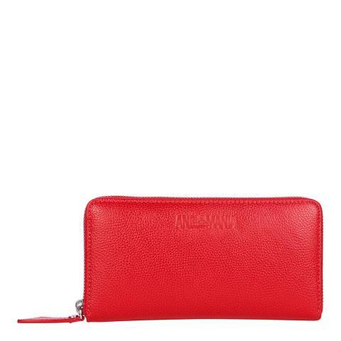 Vivienne Westwood Red Johanna Zip Round Wallet
