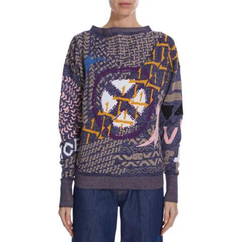 Vivienne Westwood Manhole Jacquard Lurex Classic Sweater