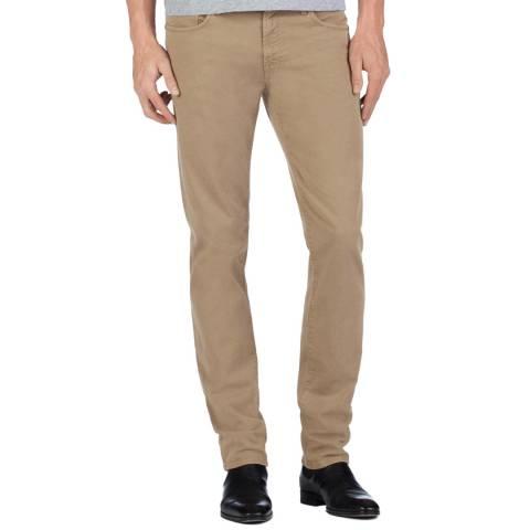J Brand Beige Kane Straight Stretch Jeans