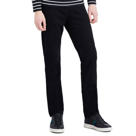 J Brand Black Kane Straight Stretch Jeans