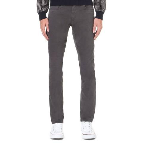 J Brand Charcoal Kane Straight Stretch Jeans