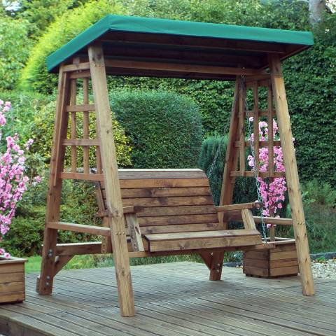 Charles Taylor Dorset 2 Seat Swing (Green Roof Cover)