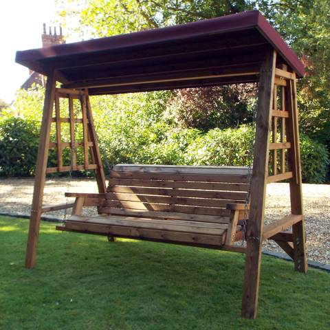 Charles Taylor Dorset 3 Seat Swing (Burgundy Roof Cover)