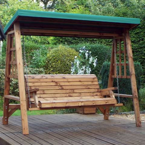 Charles Taylor Dorset 3 Seat Swing (Green Roof Cover)