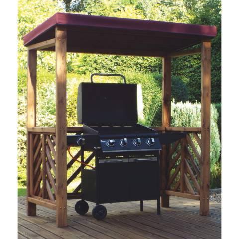 Charles Taylor Dorchester BBQ Shelter (Burgundy Roof  Cover)