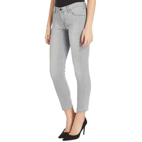 J Brand Ash Grey Sadey Slim Stretch Jeans
