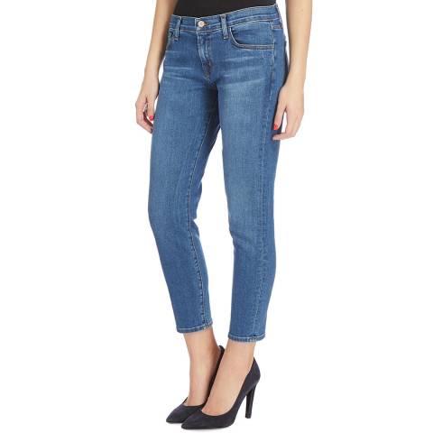 J Brand Mid Blue Sadey Slim Stretch Jeans