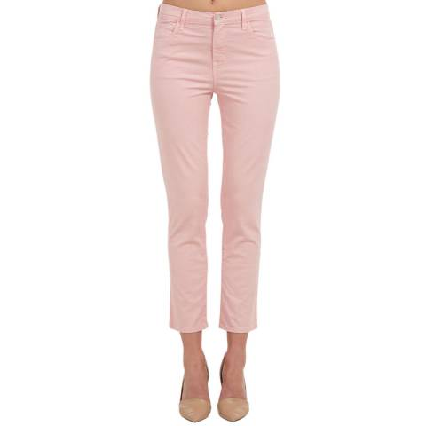 J Brand Light Pink Ruby Cigarette Stretch Jeans