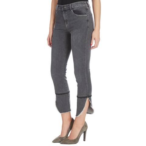 J Brand Dark Grey Ruby Slim Stretch Jeans