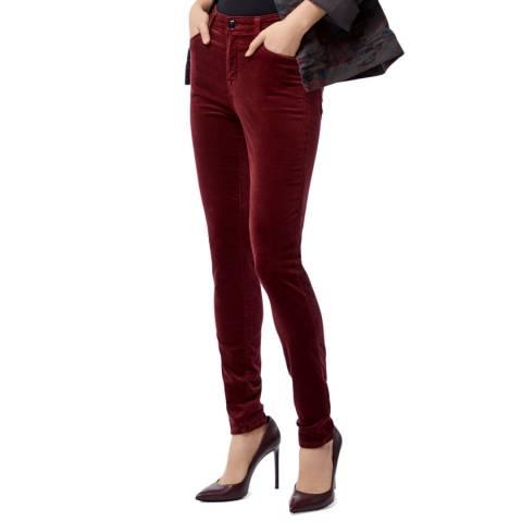 J Brand Oxblood Maria Skinny Jeans