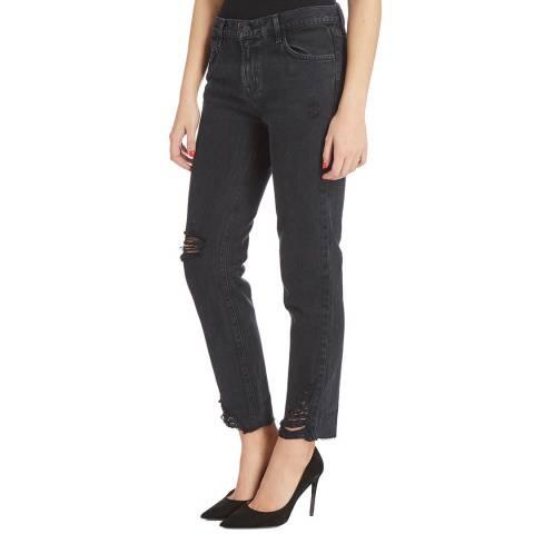 J Brand Black Johnny Boyfriend Cotton Jeans