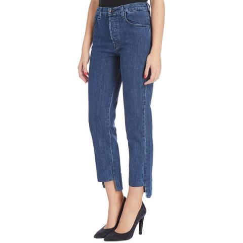 J Brand Mid Blue Wynne Straight Jeans