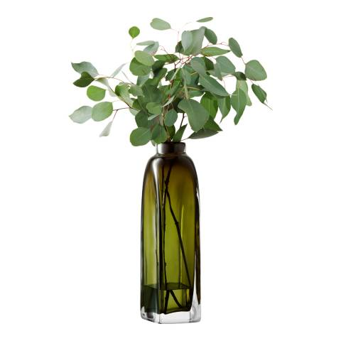 LSA Moss Green Taffeta Vase 38cm