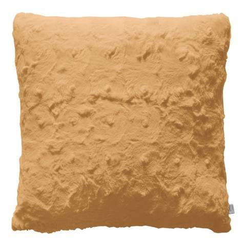Gallery Ochre Stellan Fur Cushion 43x43cm