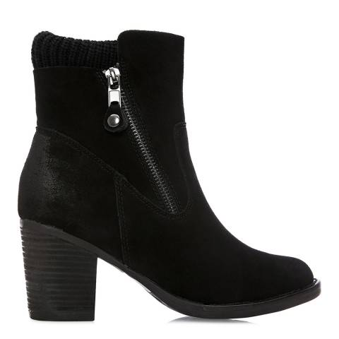 Moda in Pelle Black Suede Breadi Ankle Boots