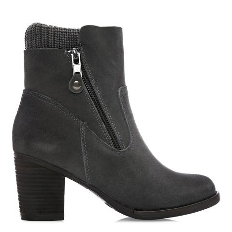 Moda in Pelle Grey Suede Breadi Ankle Boots
