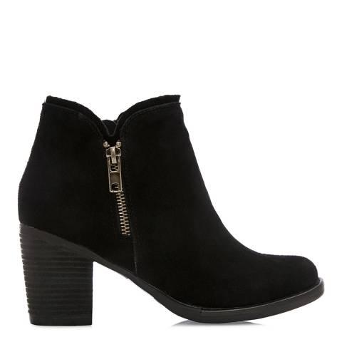 Moda in Pelle Black Suede Cerdi Ankle Boots