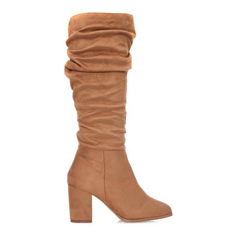 Moda in Pelle Tan Suede Freala Long Boots